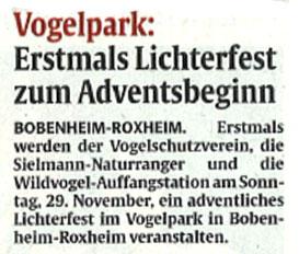 Pressebericht RheinPfalz Lichterfest vom 27.11.2015