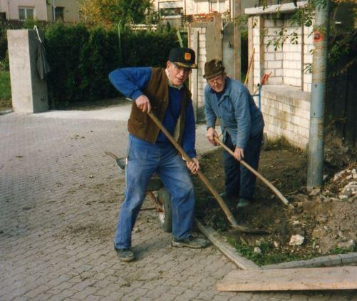 Arbeitseinsatz mit Heinrich Knobloch