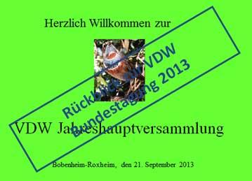 Rückblick VDW Bundestagung 2013