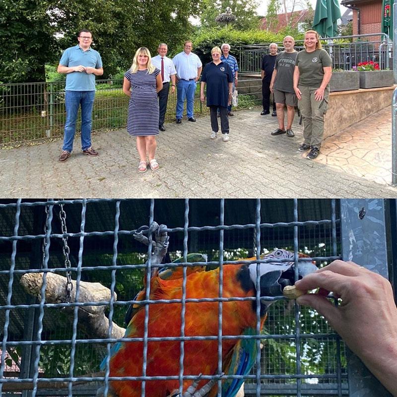 CDU Bundestagsabgeordneter Torbjörn Kartes informiert sich im Vogelpark